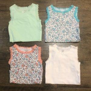 Carter's Lace Trim Bodysuit 4 Pack